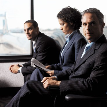 Business Executives Sitting in the Airport
